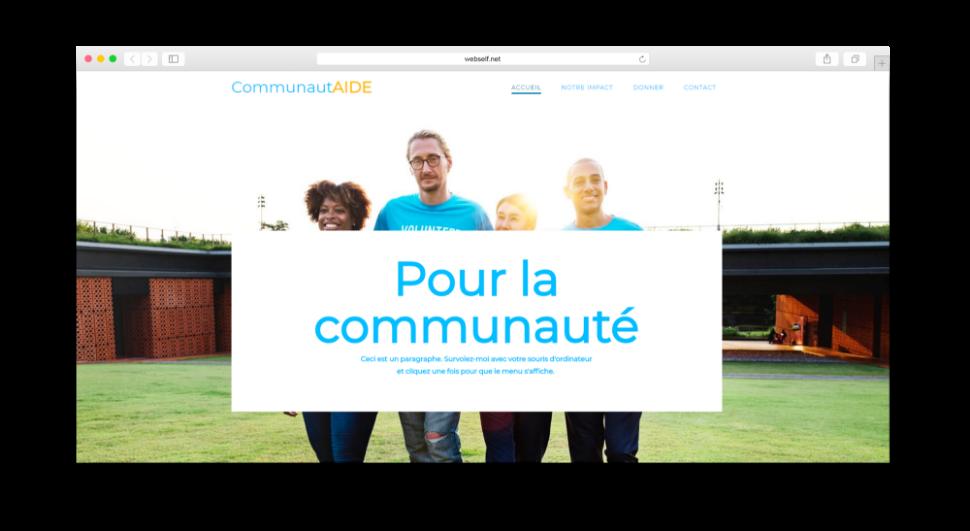 Site pour communauté