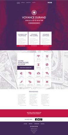 Design de site internet de voyance