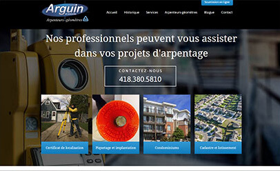 Arguin et associés WebSelf website