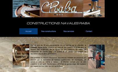 Chantier naval Raba WebSelf website