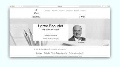 Lorne Baudet WebSelf website