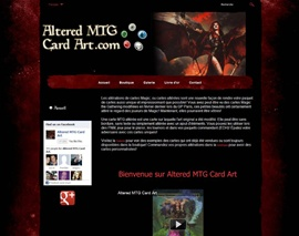 Site web client Altered MTG Card Art