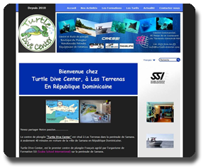 Site web de Turtle Dive Center